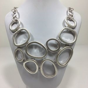 Jewelry - Loops Bib Necklace 15""